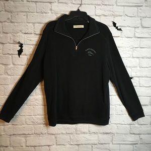Tommy Bahama quarter zip Pullover black sweatshirt